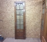 Reclaimed Wentworth Golf Club Oak Door Half Glazed