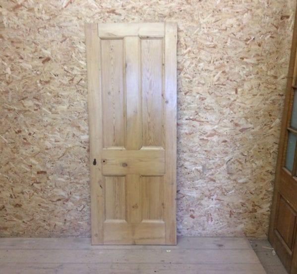 4 Panelled Pine Stripped Reclaimed Door