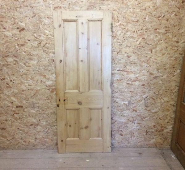 4 Panel Pine Reclaimed Stripped Door
