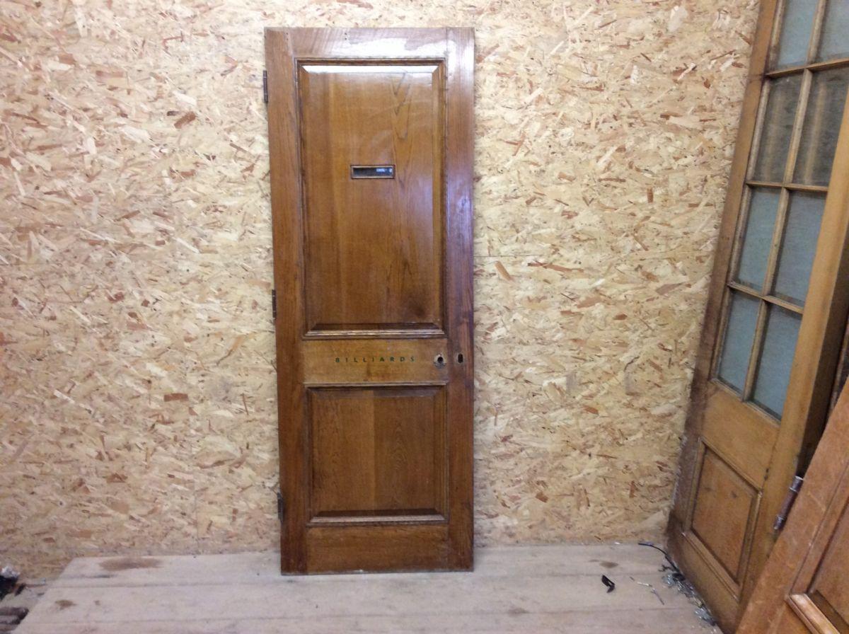 Reclaimed Varnished Billiards Oak Door