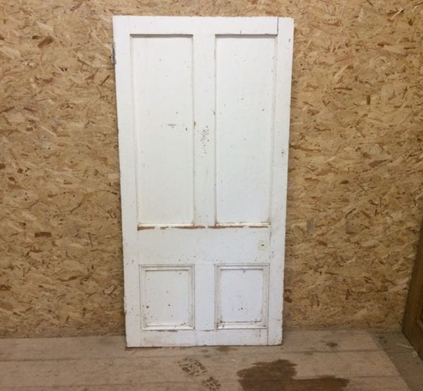 Short Reclaimed Painted 4 Panel Door