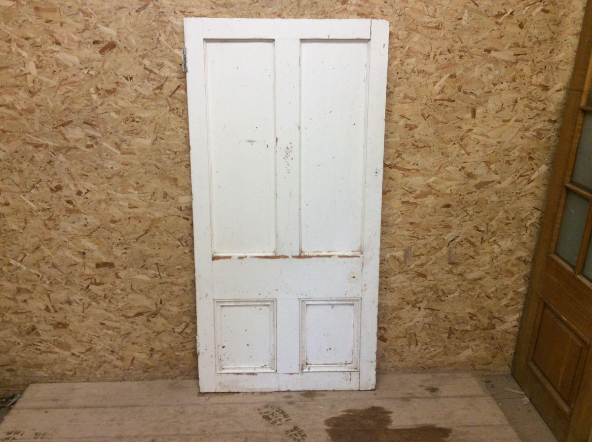 Short Reclaimed Painted 4 Panel Door