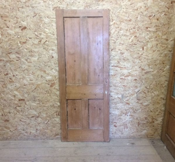 Stripped 4 Panelled Reclaimed Pine Door