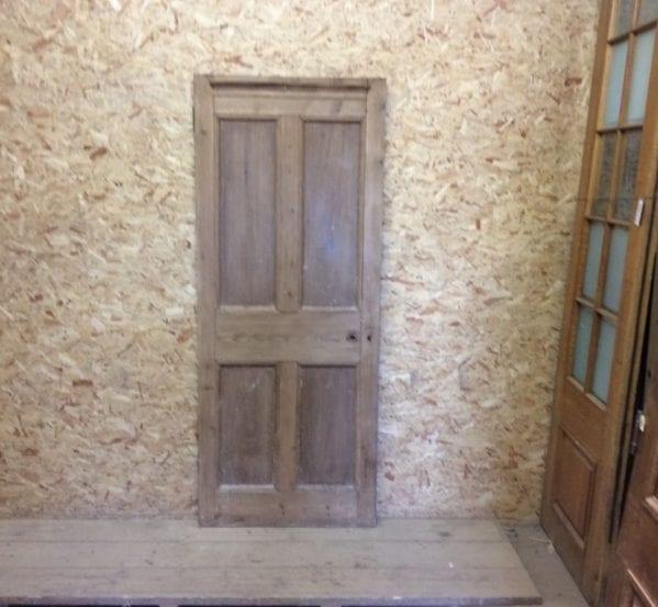 Ridged Top Stripped 4 Panel Door