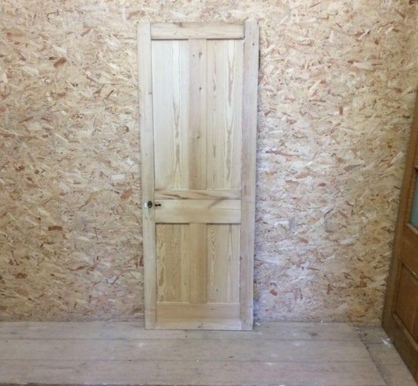 Stripped Reclaimed 4 Panel Pine Door