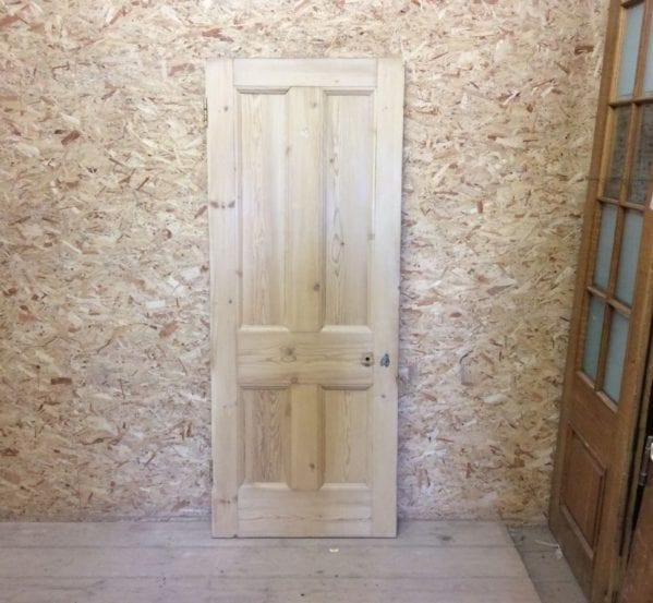Pine Reclaimed 4 Panel Stripped Door