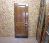 Reclaimed 2 Panelled Varnished Oak Door