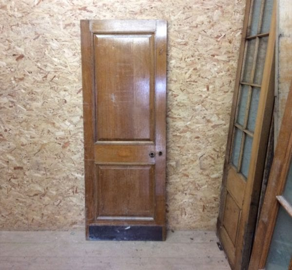 Reclaimed 2 Panelled Varnished Oak Door