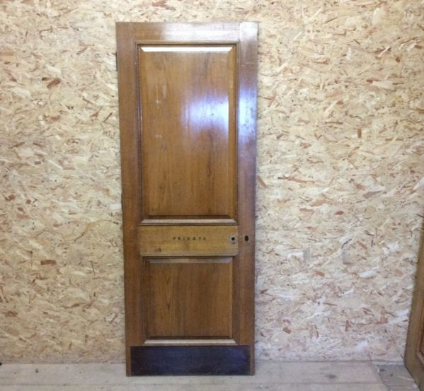 Solid Oak Reclaimed 2 Panelled Door