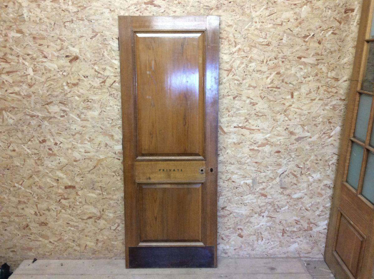 Solid Oak Reclaimed 2 Panelled Door