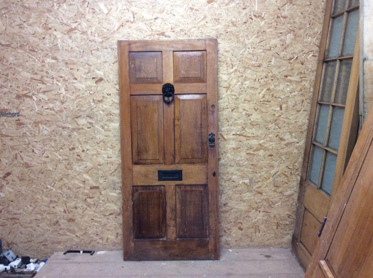 Reclaimed Lion Knocker Oak Front Door