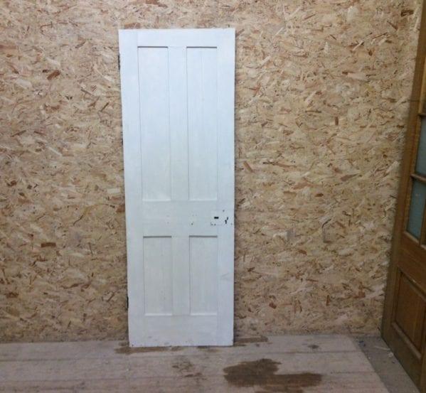 Narrow Reclaimed Painted 4 Panel Door