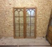 Reclaimed Fully Glazed Oak Door Pair