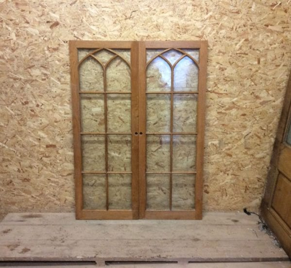 Reclaimed Fully Glazed Oak Door Pair