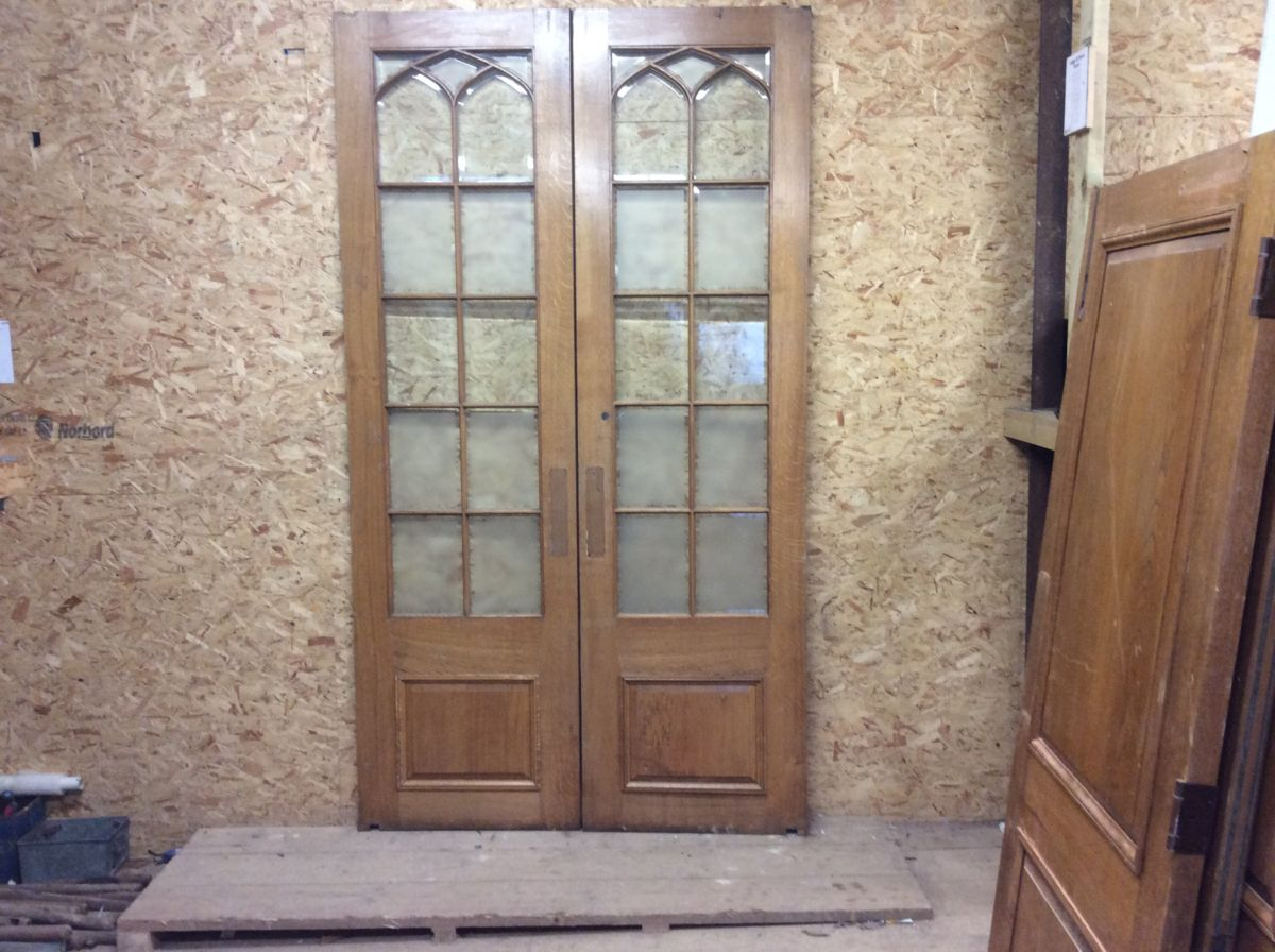Wentworth Golf Club Oak Half Glazed Double Doors