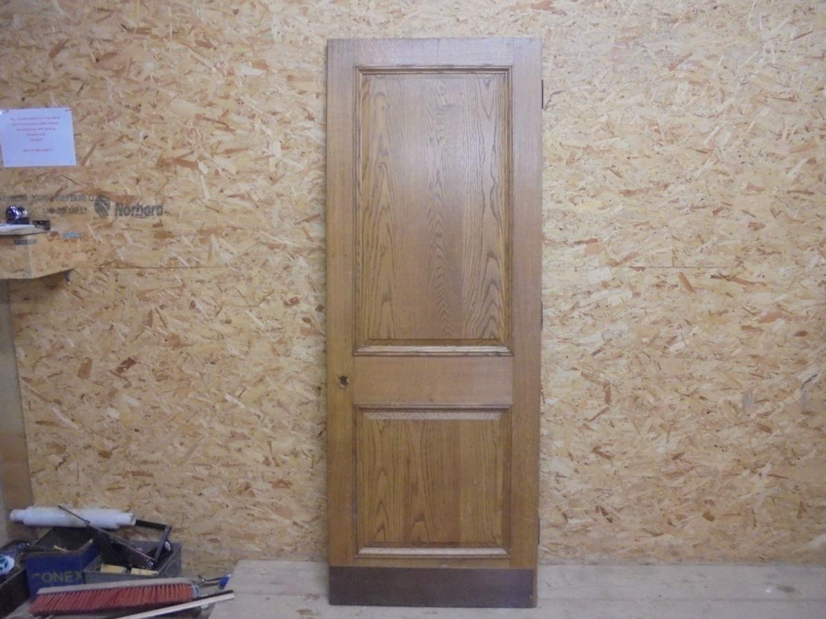 Reclaimed Oak Vintage 2 Panelled Door