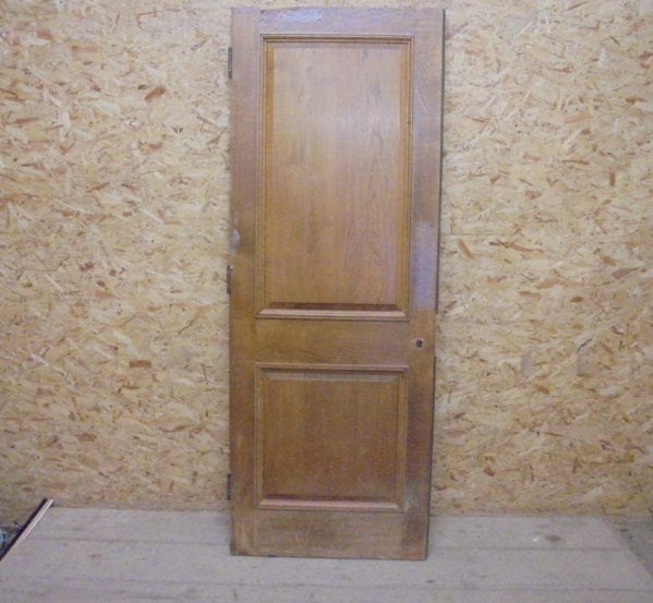 Oak 2 Panelled Door Vintage