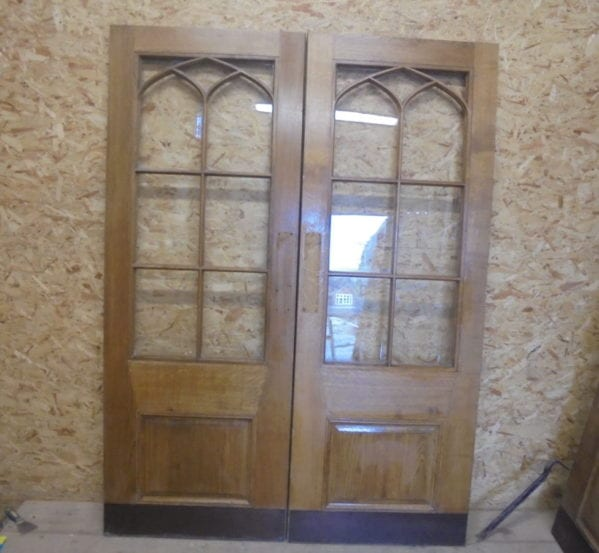 Pair Of Wentworth Half Glazed Oak Double Doors