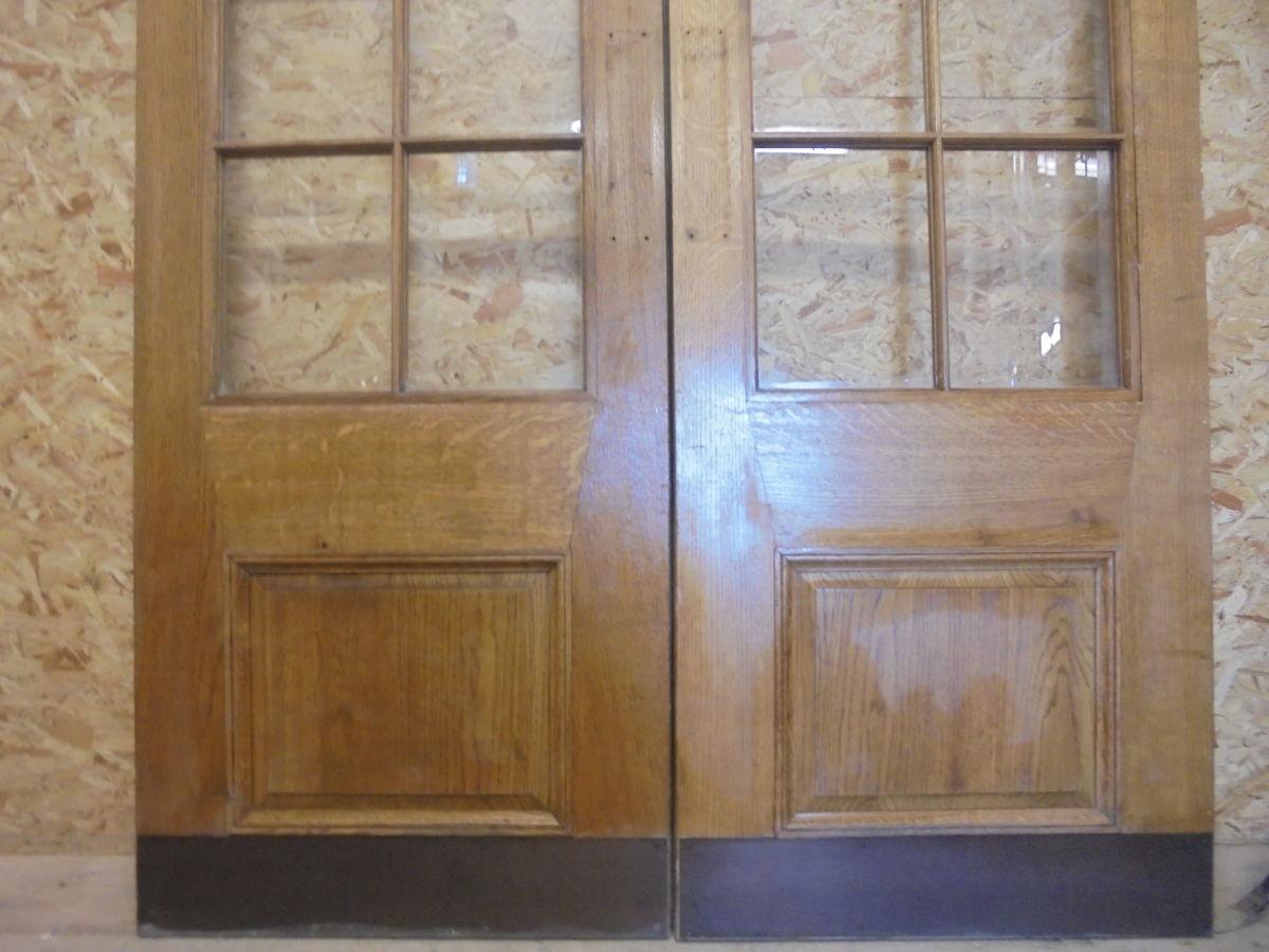 Pair Of Wentworth Half Glazed Oak Double Doors