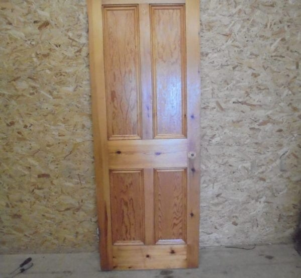 Lovely Varnished Pine 4 Panelled Door