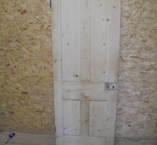 Beautiful Stripped 4 Panel Pine Door