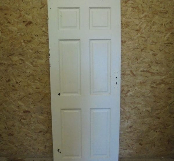Attractive White Painted 6 Panelled Door