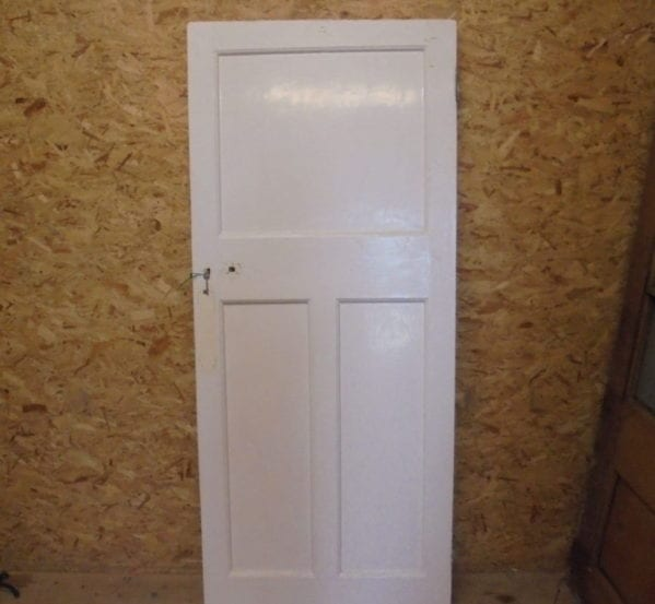 White Painted 3 Panelled Door