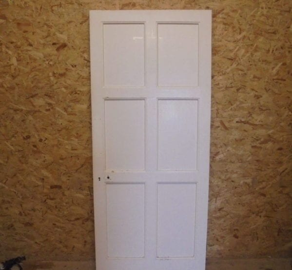 Lovely 6 Panelled White Painted Door
