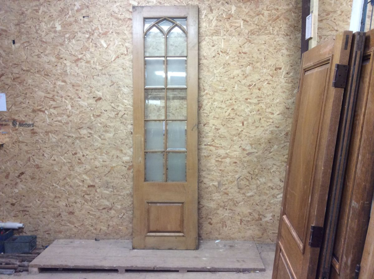 Reclaimed Wentworth Golf Club Half Glazed Oak Door