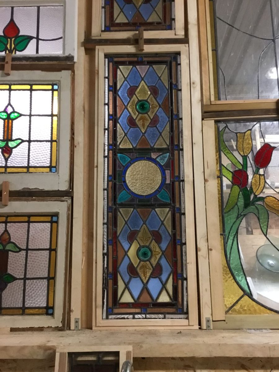 Long Narrow Stained Glass Window