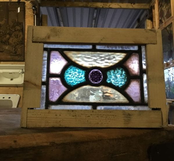 Tiny Rectangular Stained Glass Window