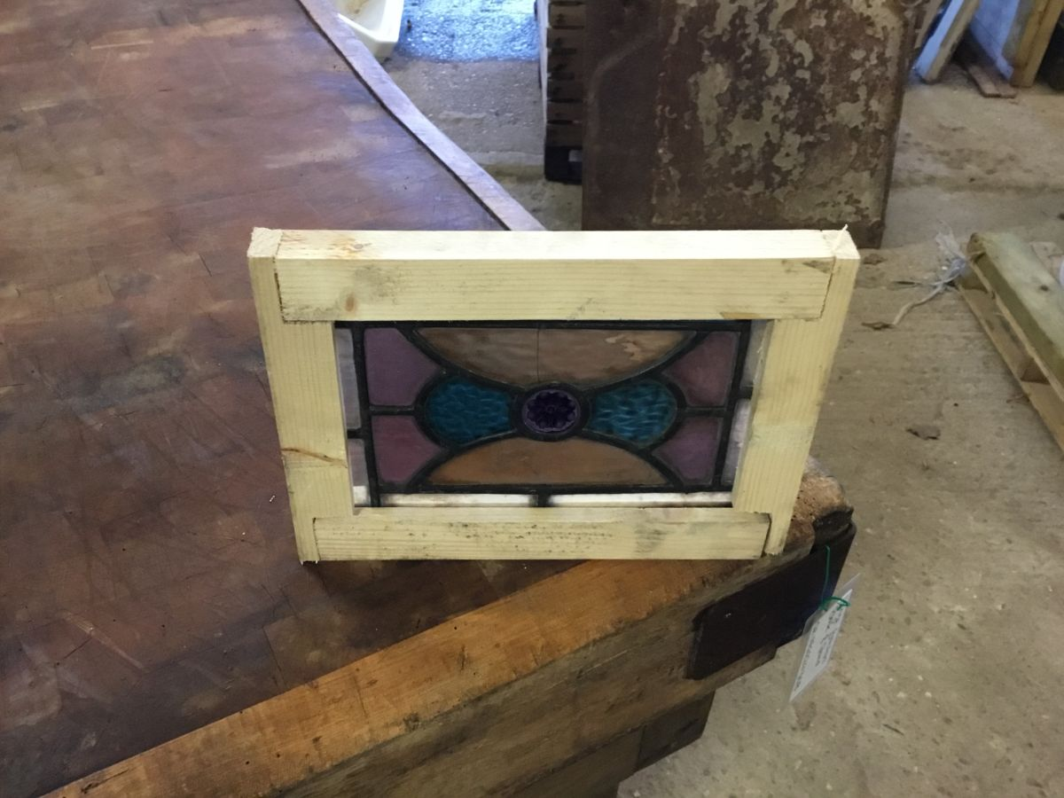 Tiny Rectangular Stained Glass Window