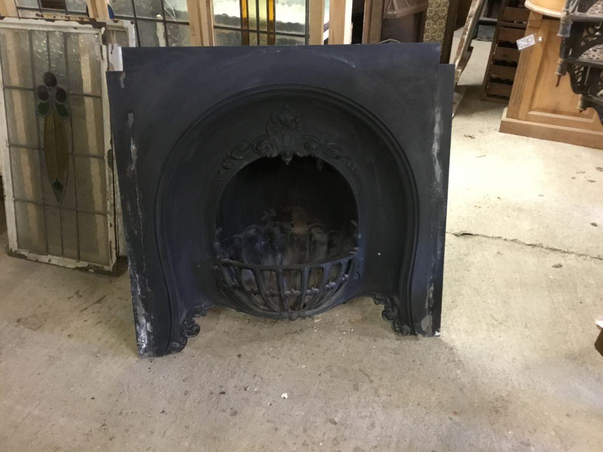 Large Cast Iron Fire Insert