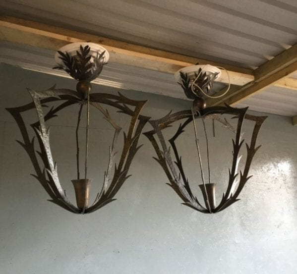 Large Statement Solid Bronze Chandeliers