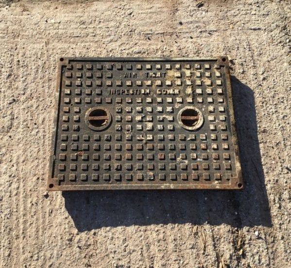 Rectangular Cast Iron Man Hole Cover