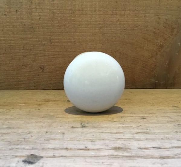 White Porcelain Round Door Knobs