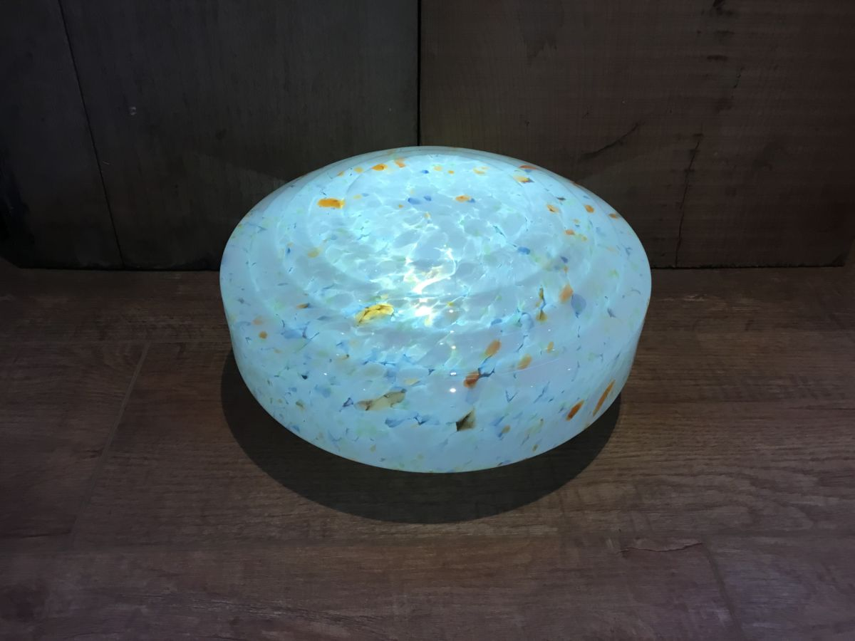 Art Deco Flycatcher Light Shade Blue & Orange