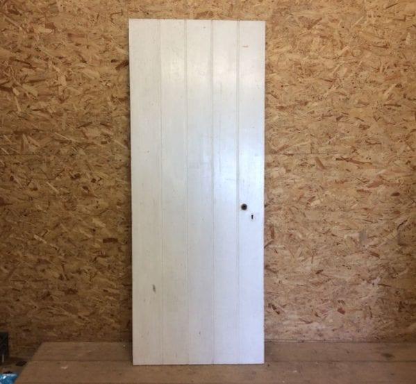 Painted White Ledge & Brace Door