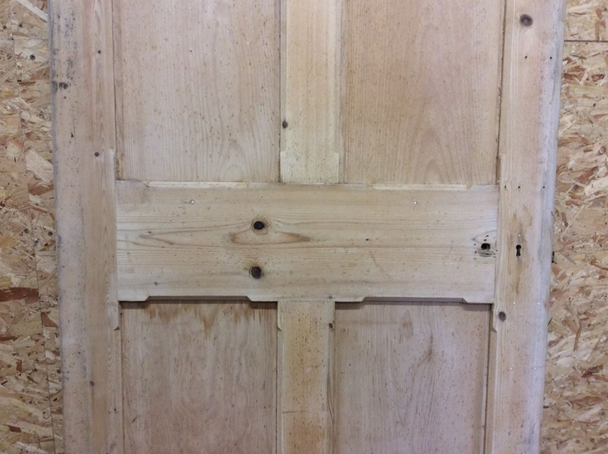 Large Premium Stripped 4 Panelled Door