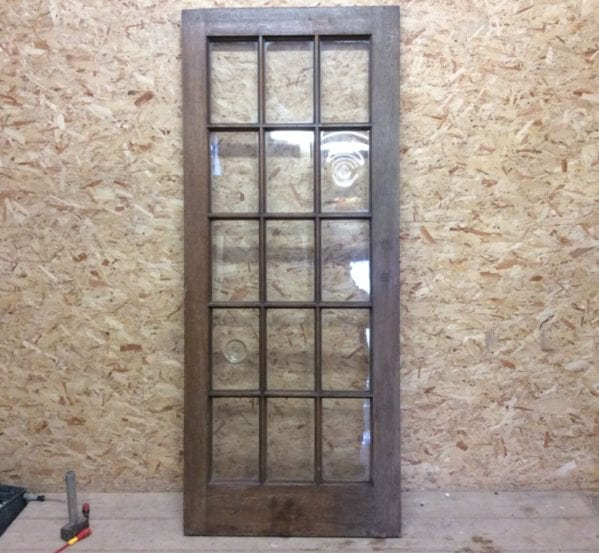 15 Pane Oak Glazed Door