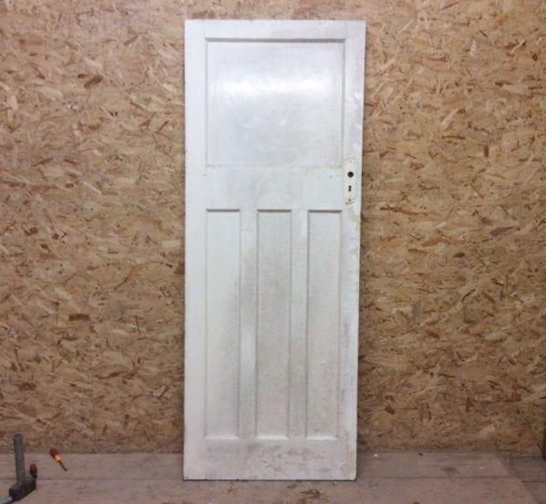 White 1930s 1 Over 3 Door
