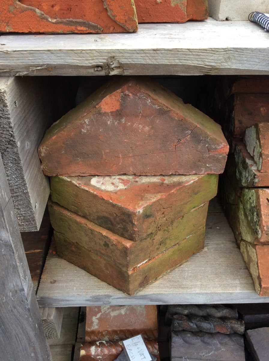 Large Reclaimed Pointed Coping Bricks