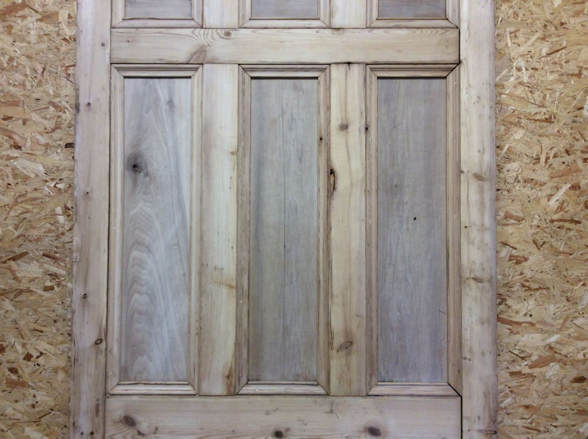 Large Stripped 9 Panelled Door/Partition