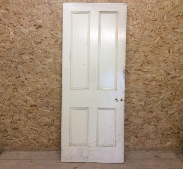 White 4 Panelled Door Full Beading