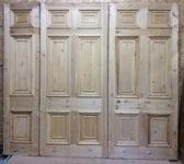 Grande Set of 6 Panelled Stripped Hotel Doors