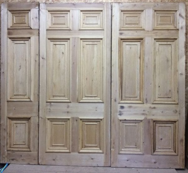 Grande Set of 6 Panelled Stripped Hotel Doors