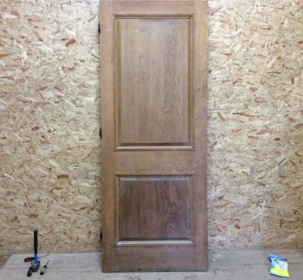 Mint Pink Oak 2 Panel Door
