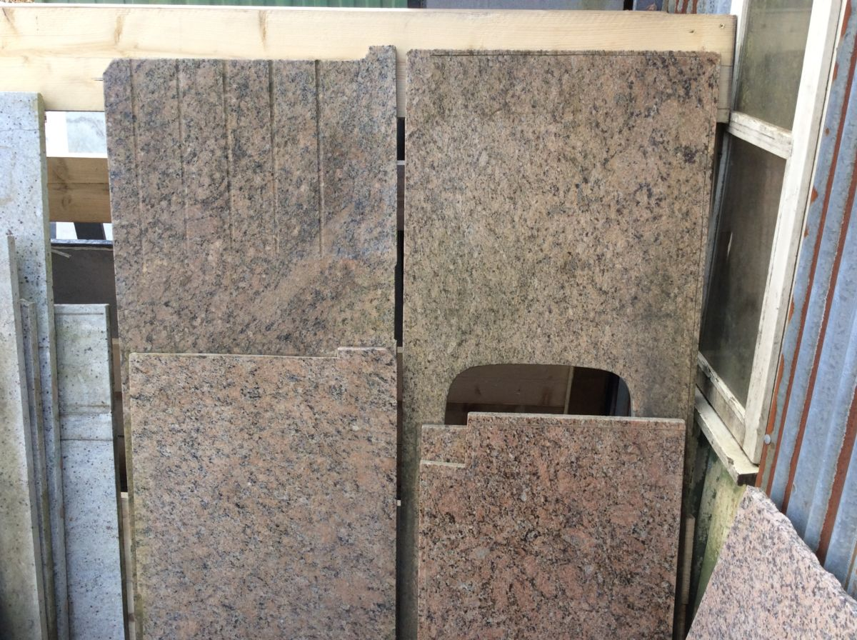 Reclaimed Speckled Granite Slabs