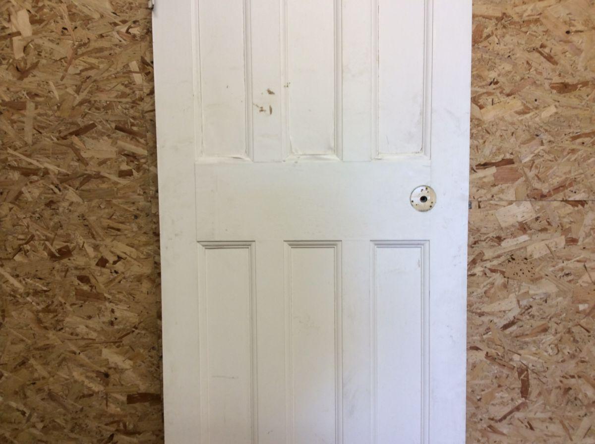 3/3 6 Panelled White Door