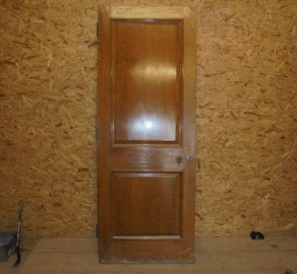 Wentworth Oak Door 2 Panel Door 'Private'